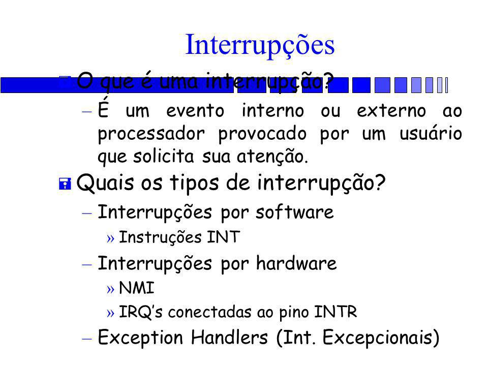 Interrupções O que é uma interrupção Quais os tipos de interrupção