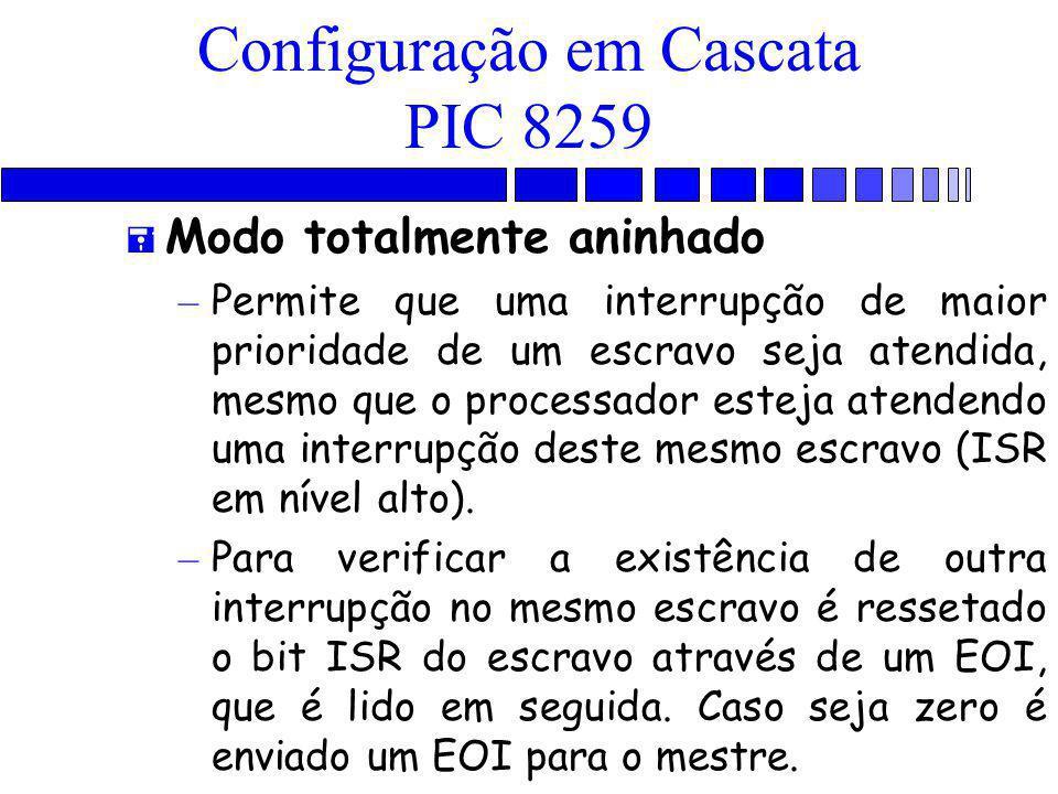 Configuração em Cascata PIC 8259