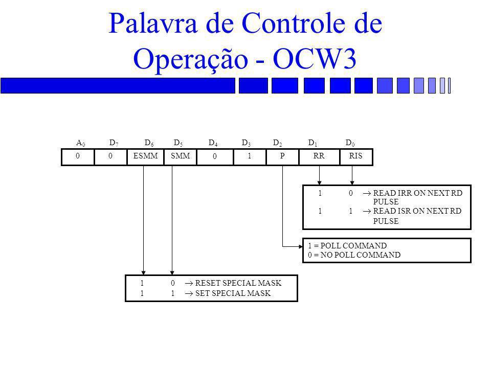 Palavra de Controle de Operação - OCW3