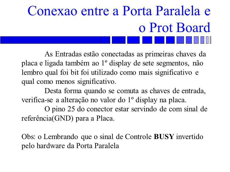 Conexao entre a Porta Paralela e o Prot Board