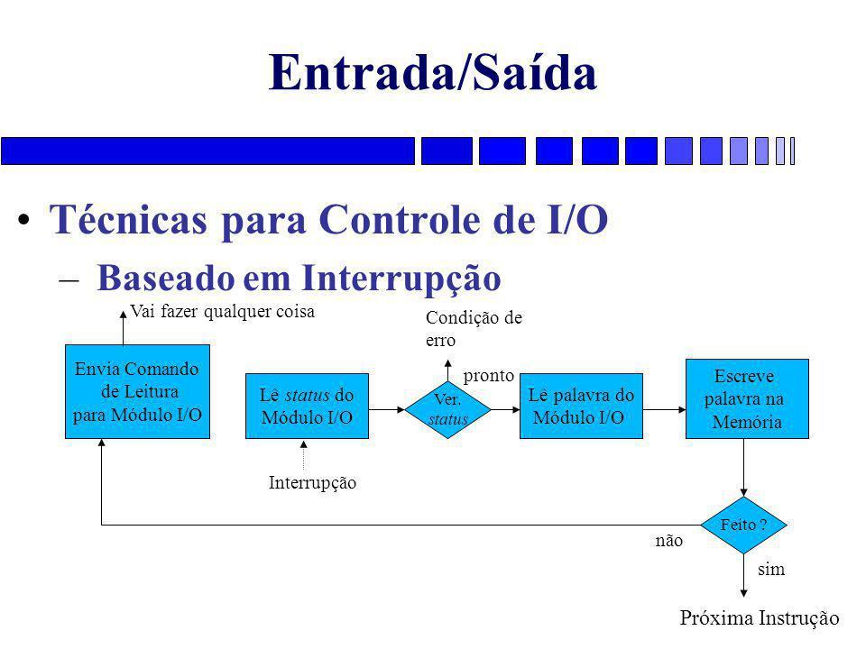 Entrada/Saída Técnicas para Controle de I/O Baseado em Interrupção