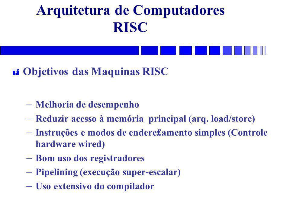 Arquitetura de Computadores RISC