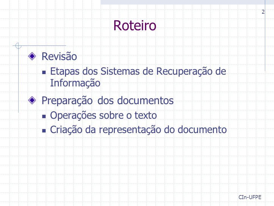 Roteiro Revisão Preparação dos documentos