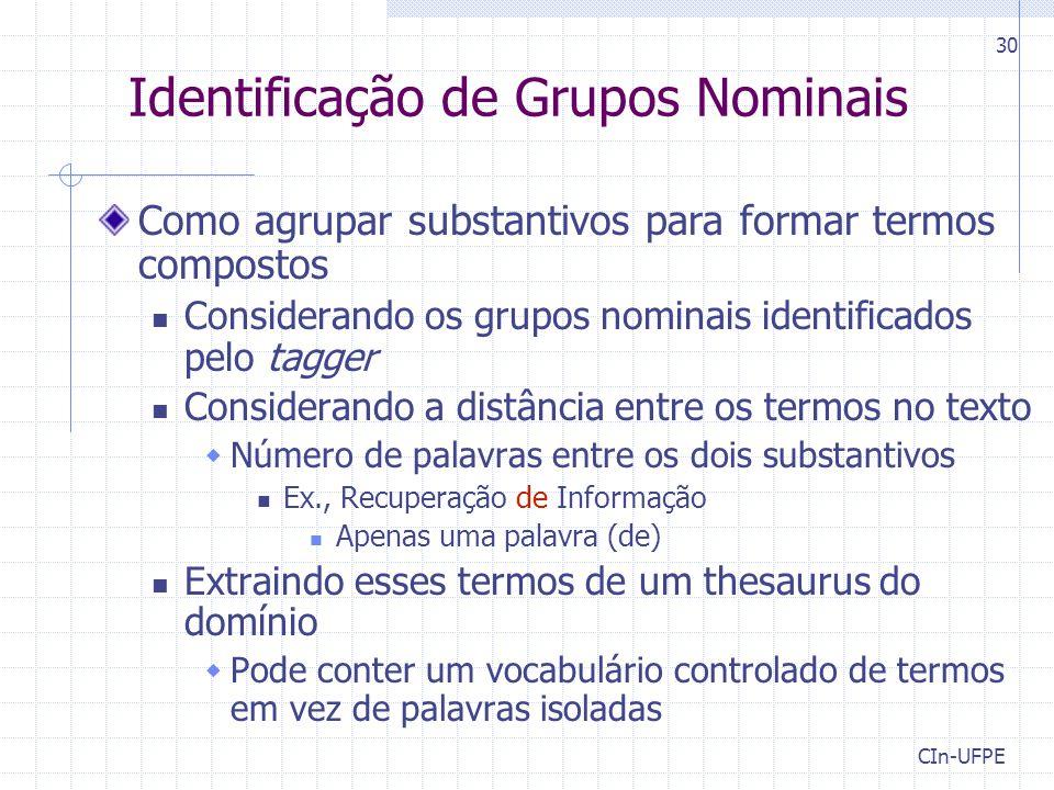 Identificação de Grupos Nominais