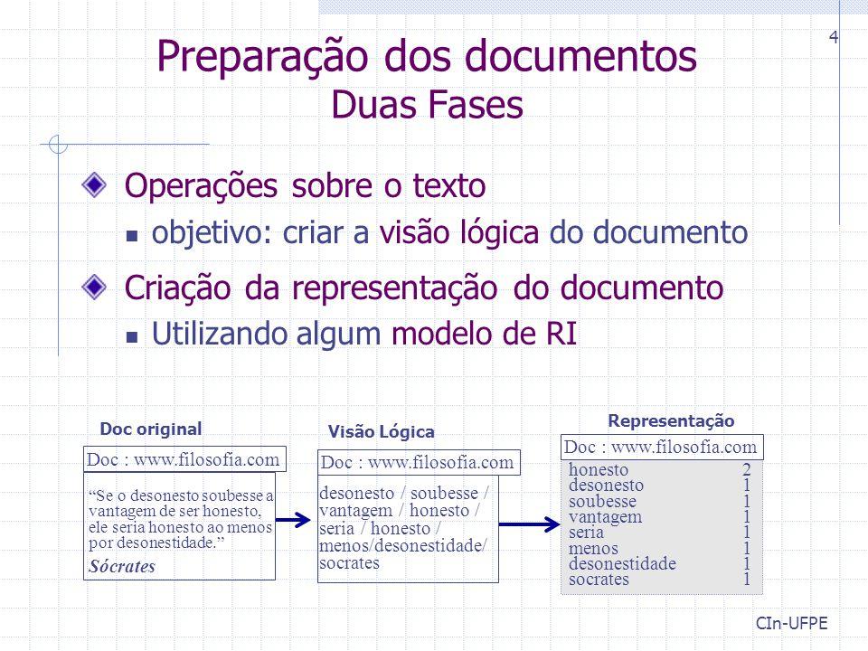 Preparação dos documentos Duas Fases