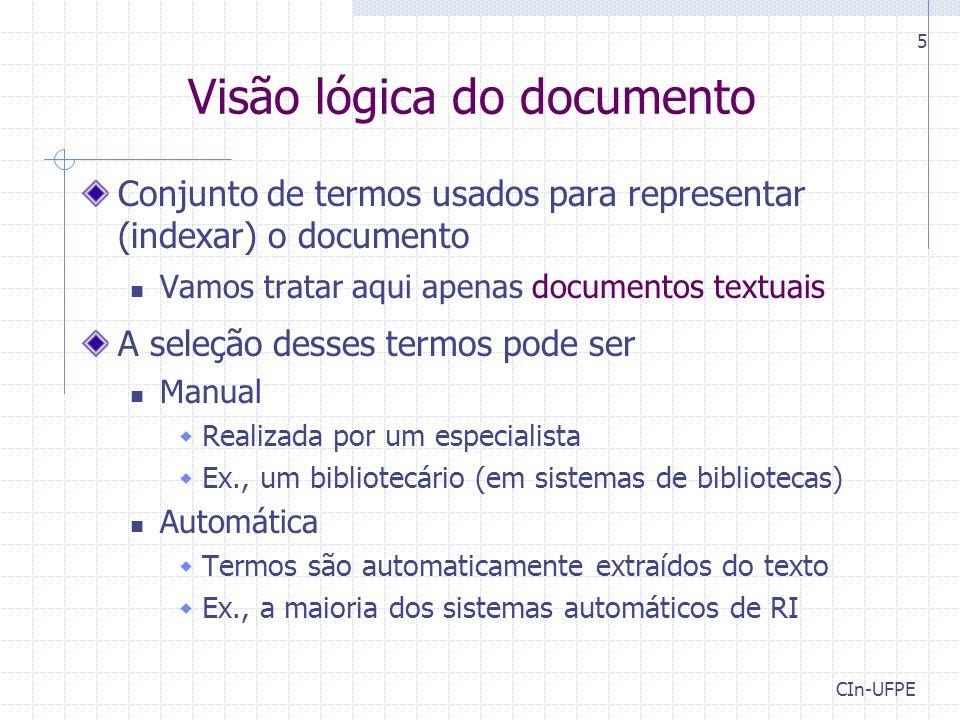Visão lógica do documento