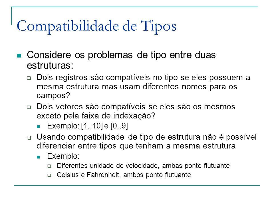 Compatibilidade de Tipos