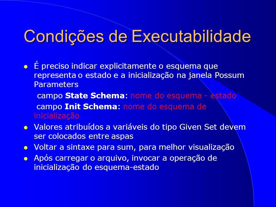 Condições de Executabilidade