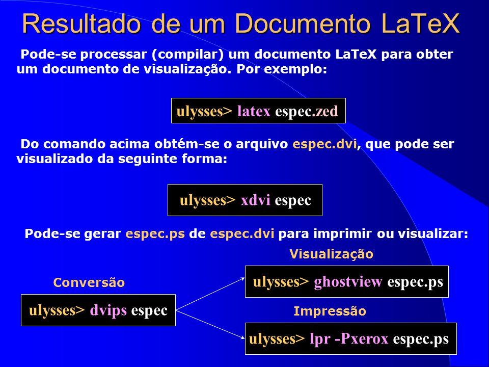 Resultado de um Documento LaTeX