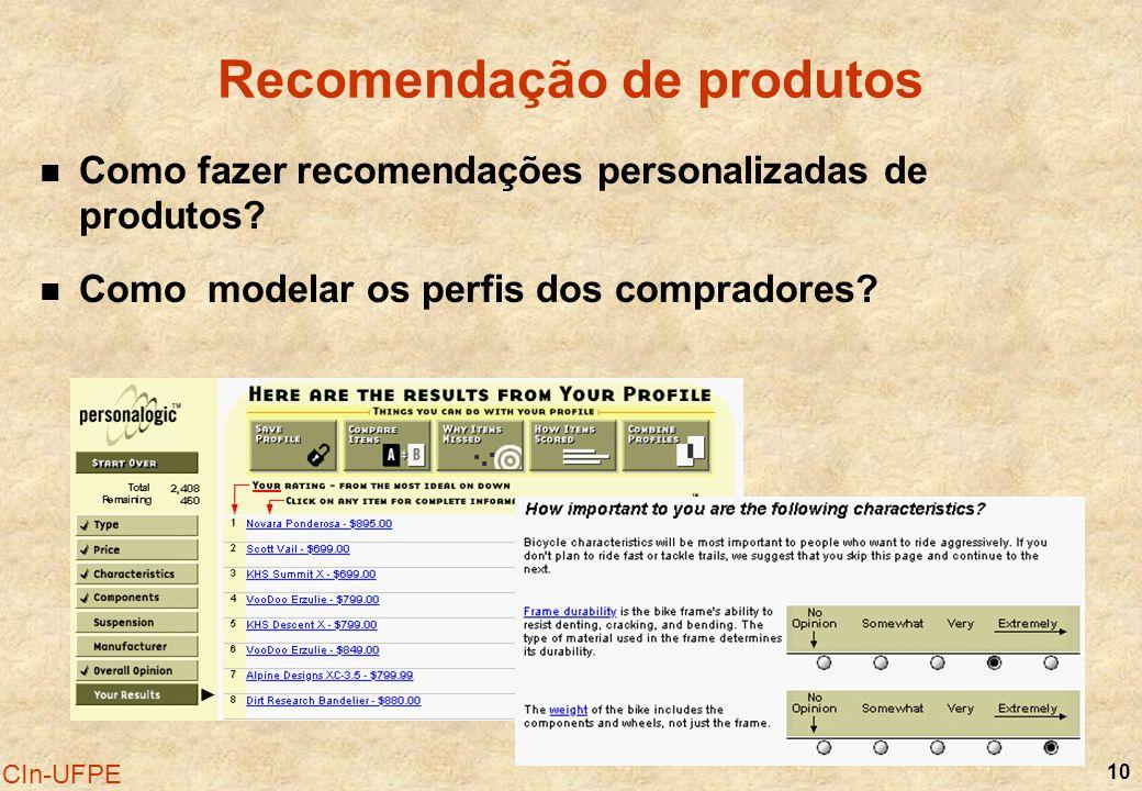 Recomendação de produtos