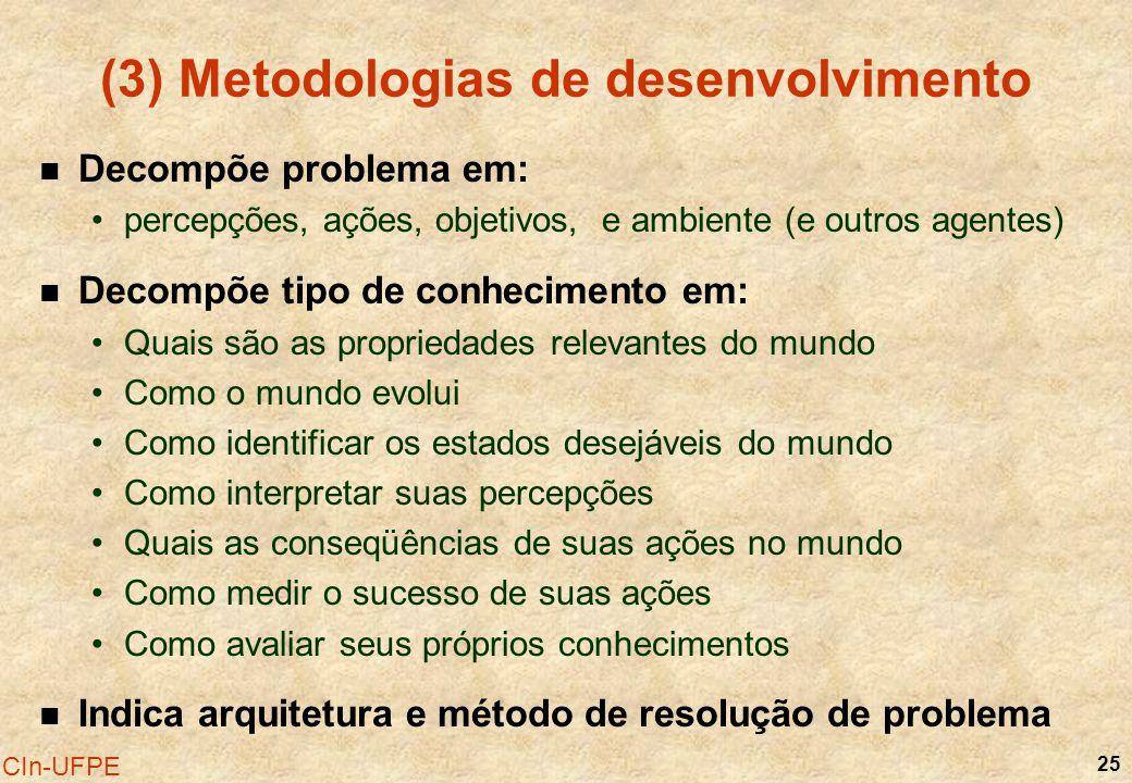 (3) Metodologias de desenvolvimento