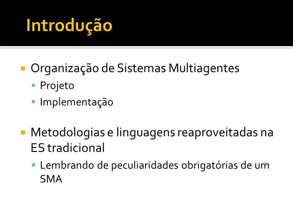 Introdução Organização de Sistemas Multiagentes