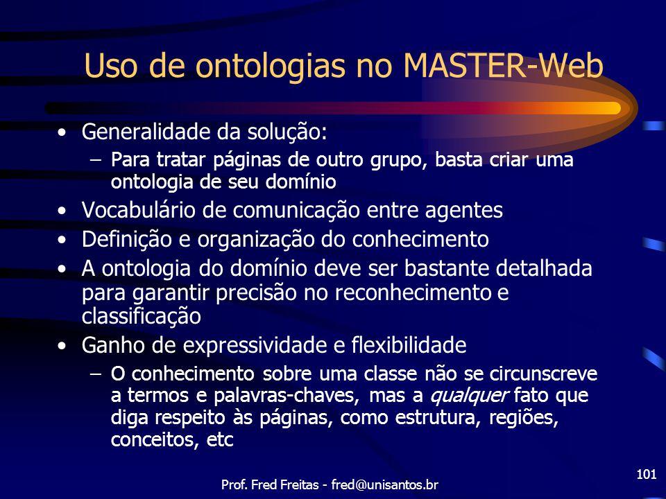 Uso de ontologias no MASTER-Web