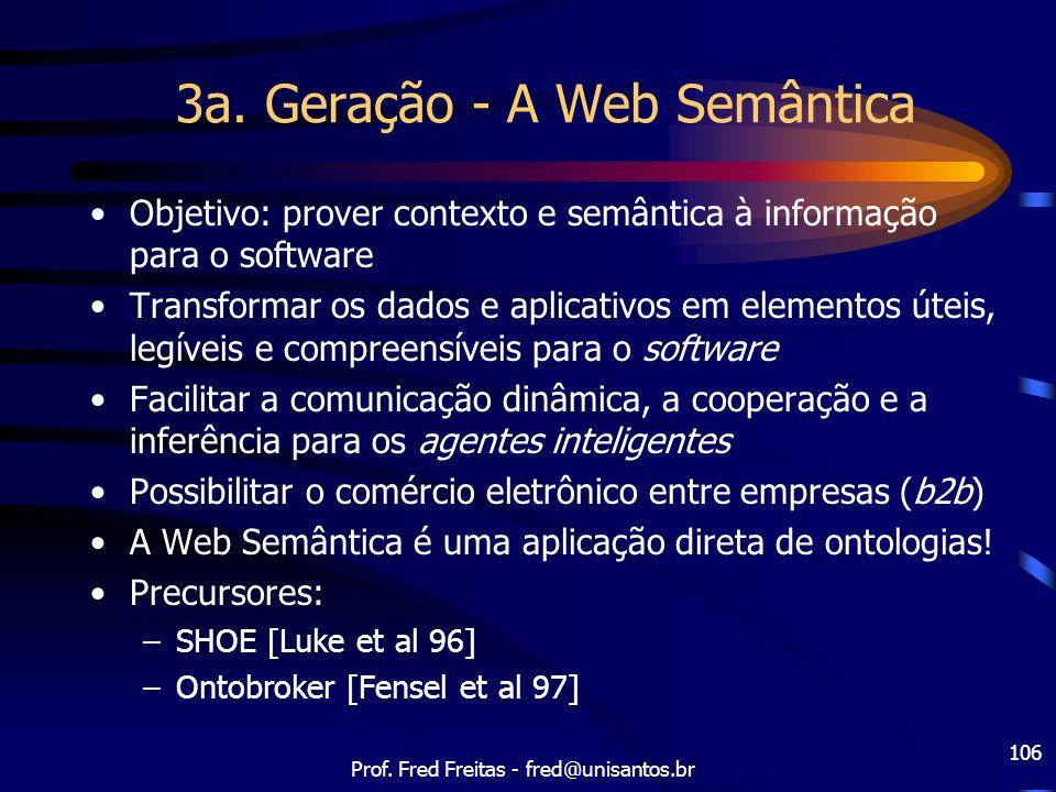 3a. Geração - A Web Semântica