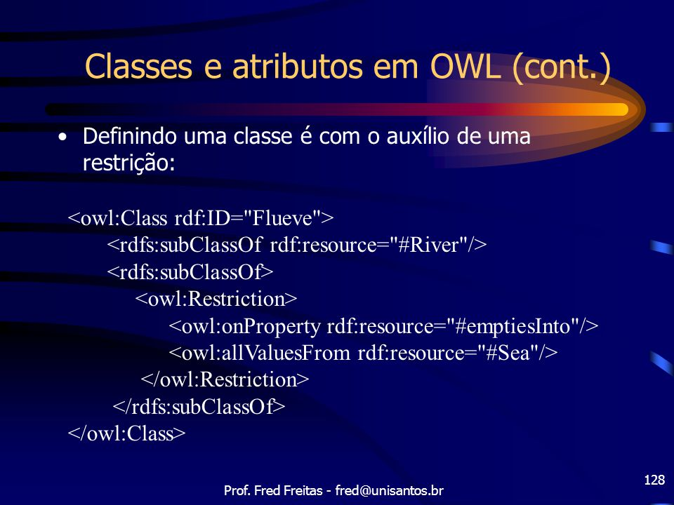 Classes e atributos em OWL (cont.)