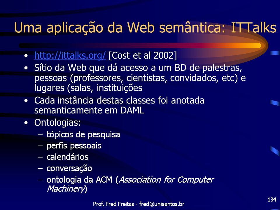 Uma aplicação da Web semântica: ITTalks