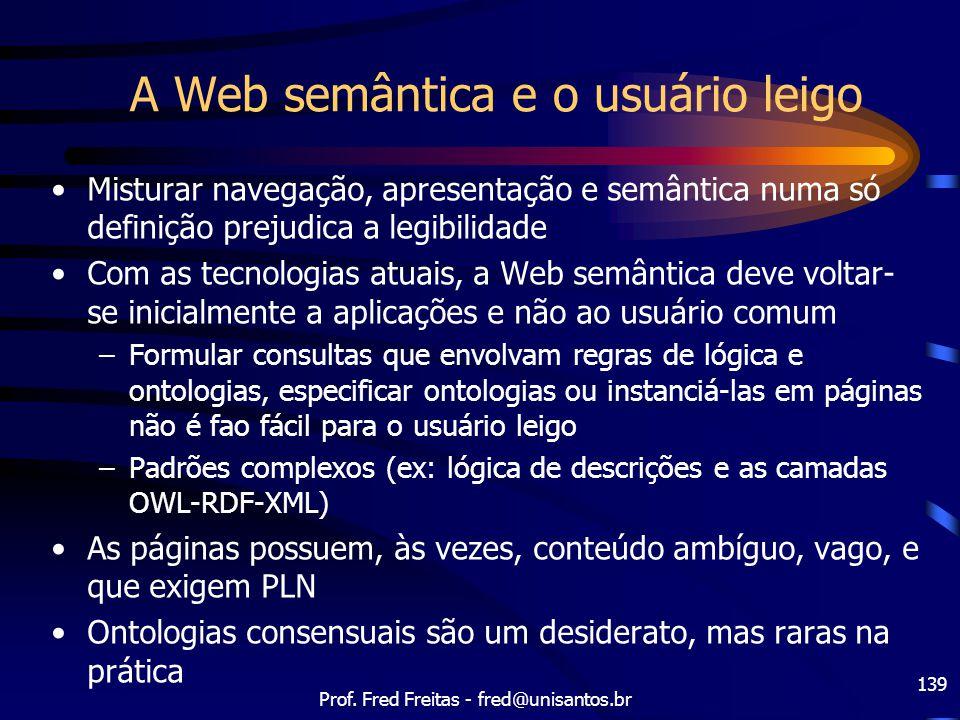 A Web semântica e o usuário leigo