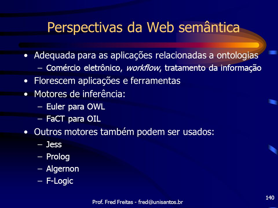 Perspectivas da Web semântica