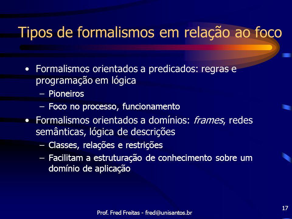 Tipos de formalismos em relação ao foco