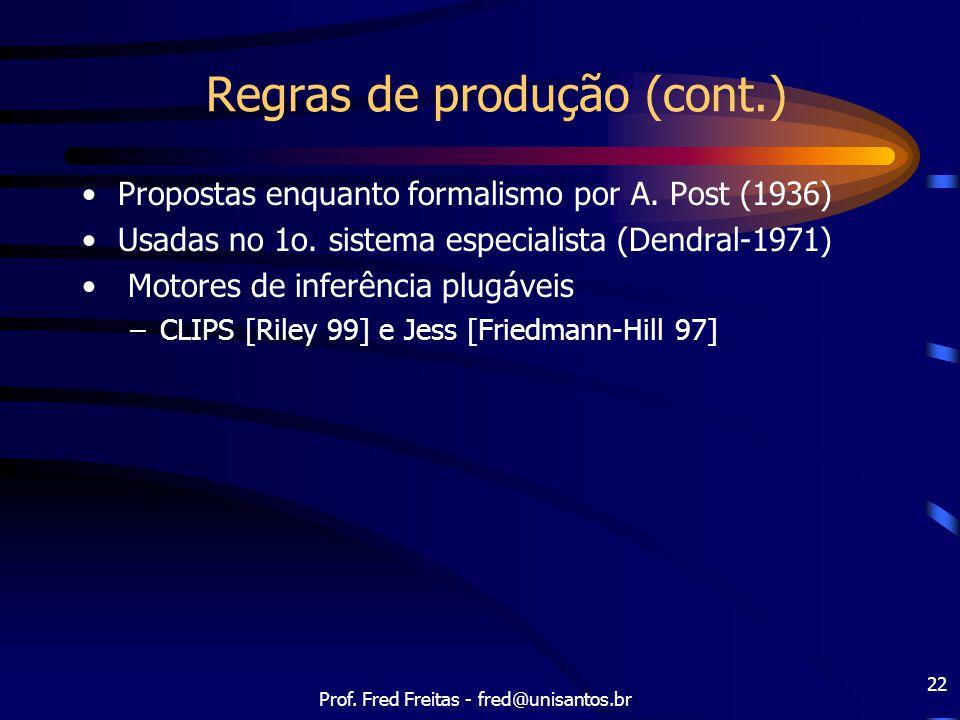 Regras de produção (cont.)