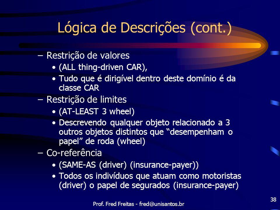 Lógica de Descrições (cont.)