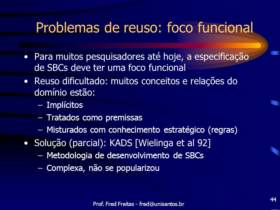 Problemas de reuso: foco funcional