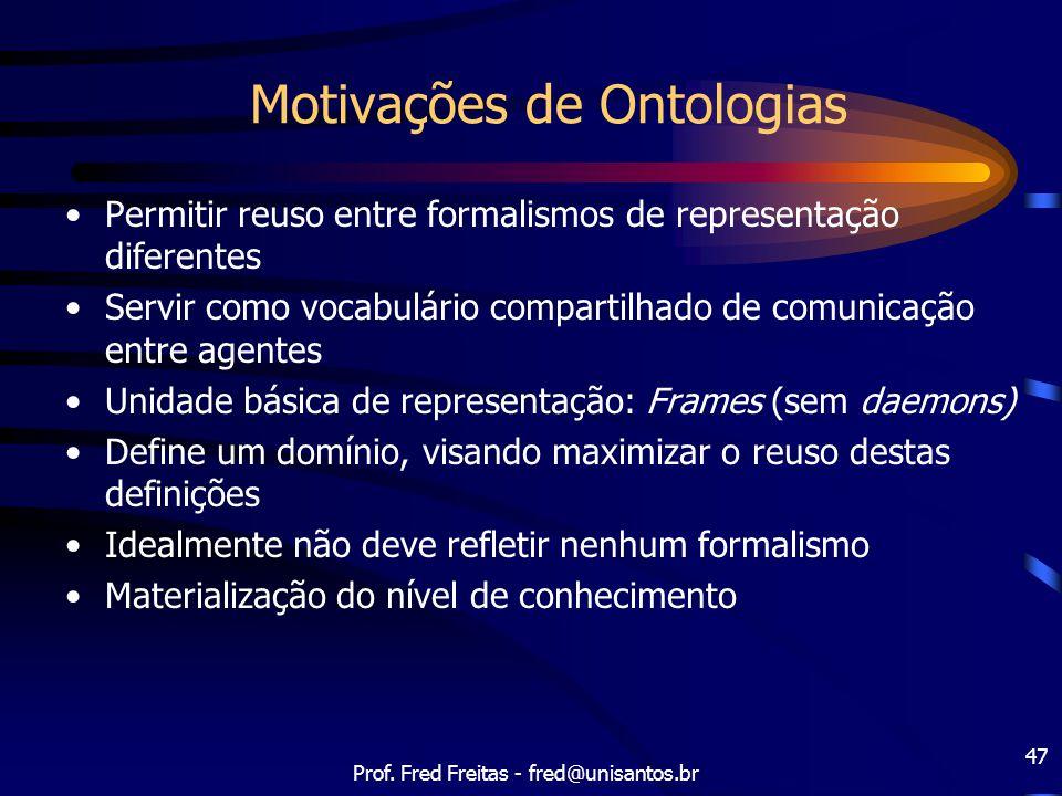 Motivações de Ontologias