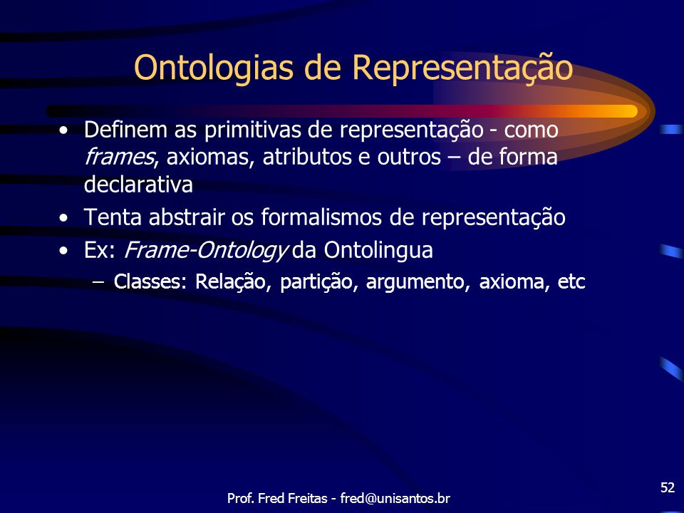 Ontologias de Representação
