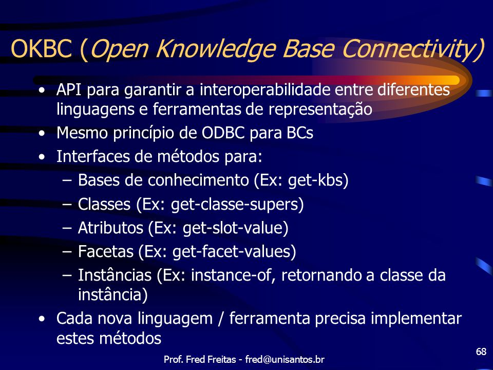 OKBC (Open Knowledge Base Connectivity)