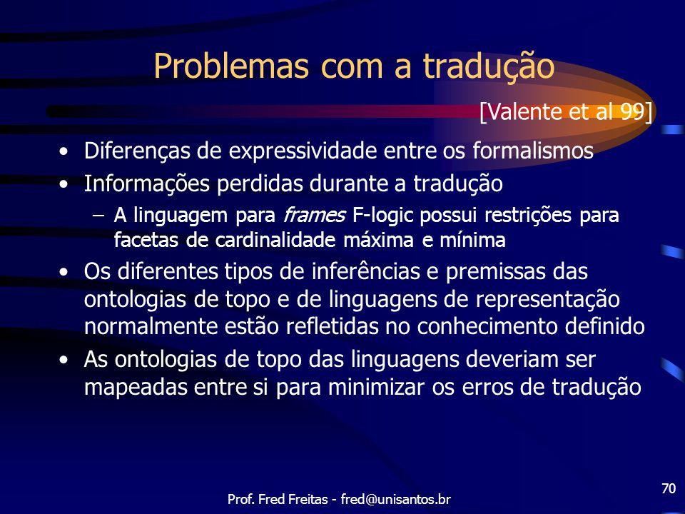 Problemas com a tradução
