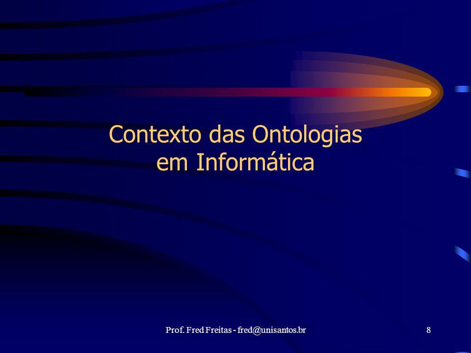 Contexto das Ontologias em Informática