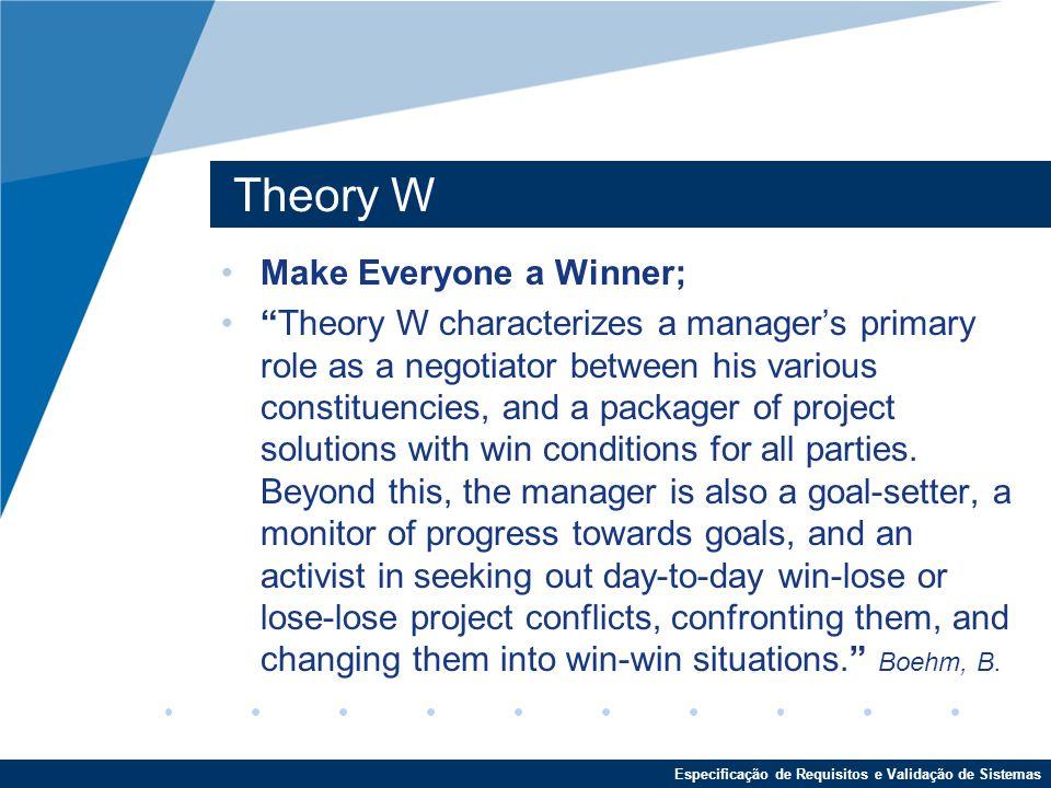 Theory W Make Everyone a Winner;