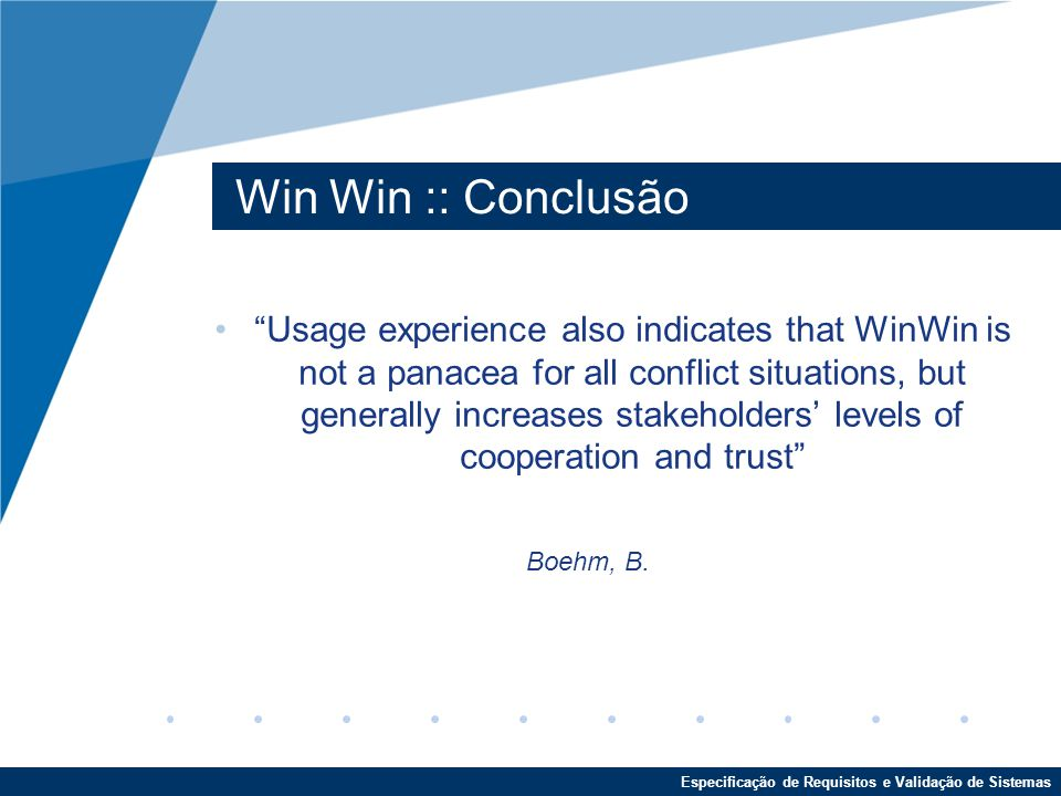 Win Win :: Conclusão