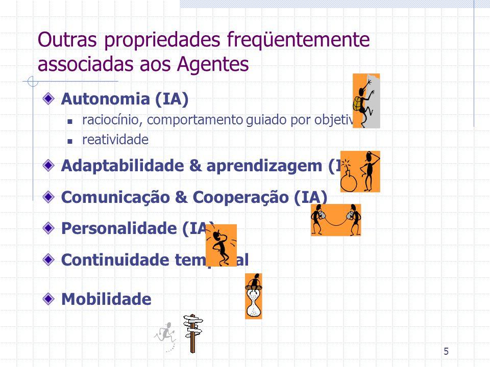 Outras propriedades freqüentemente associadas aos Agentes