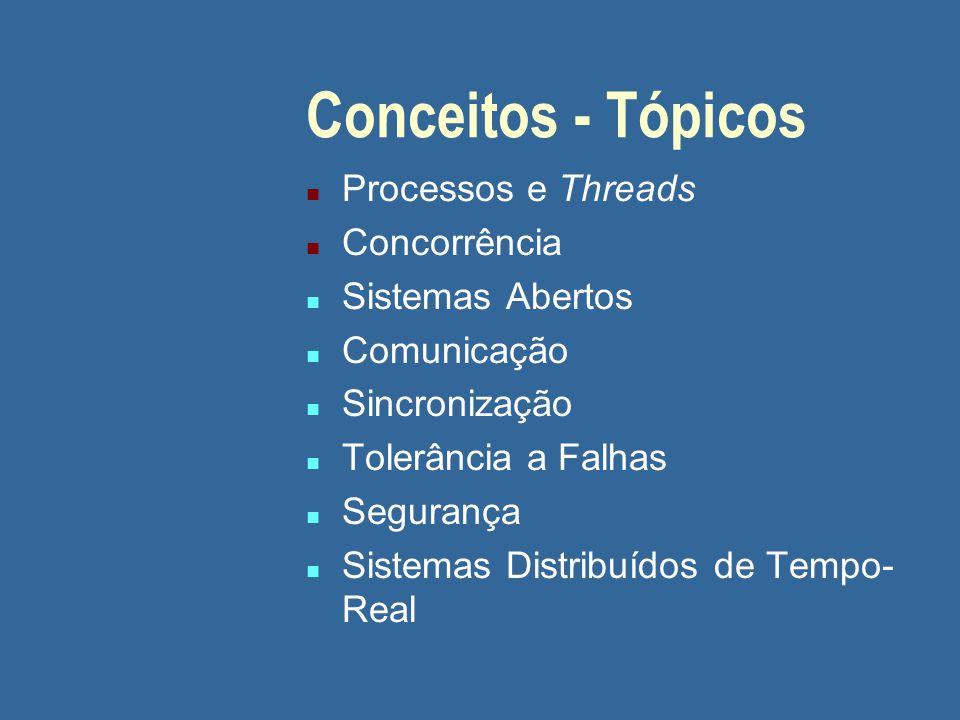 Conceitos - Tópicos Processos e Threads Concorrência Sistemas Abertos