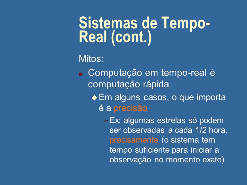 Sistemas de Tempo-Real (cont.)