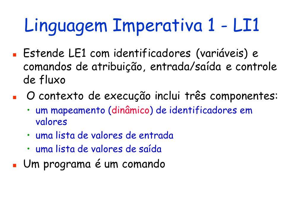 Linguagem Imperativa 1 - LI1