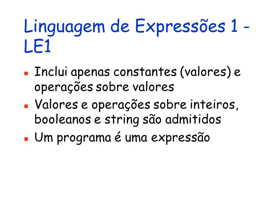 Linguagem de Expressões 1 - LE1