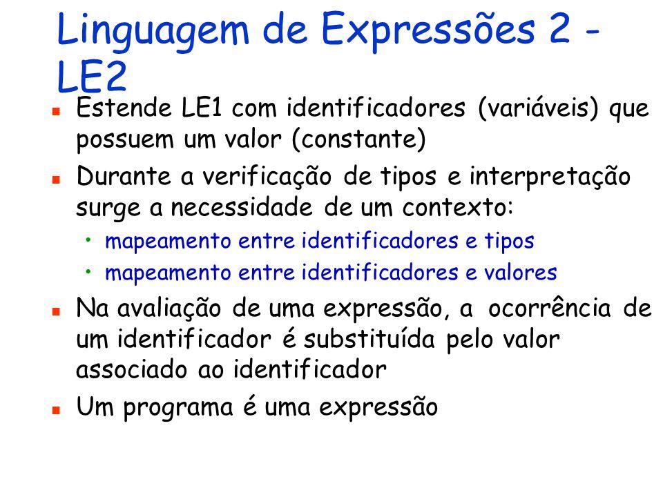 Linguagem de Expressões 2 - LE2