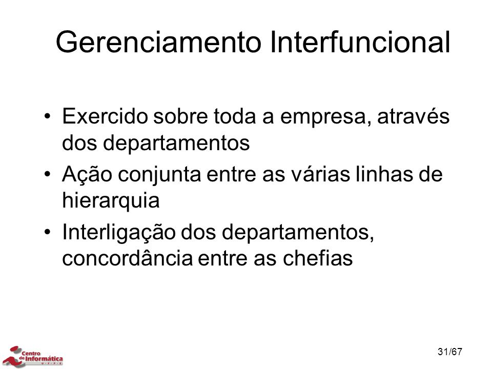 Gerenciamento Interfuncional
