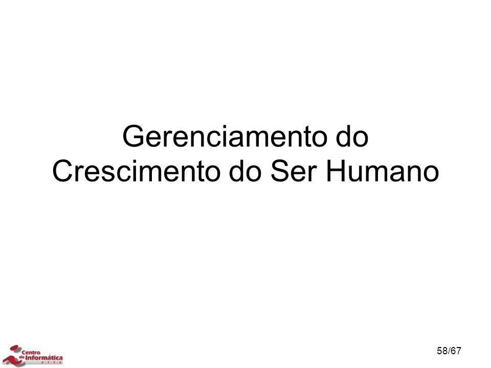 Gerenciamento do Crescimento do Ser Humano