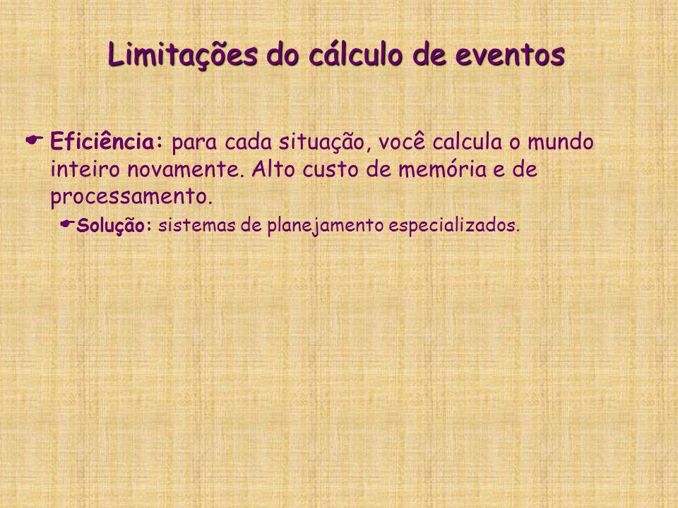 Limitações do cálculo de eventos