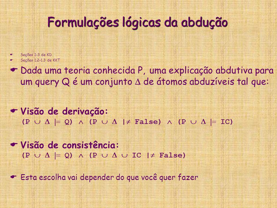 Formulações lógicas da abdução