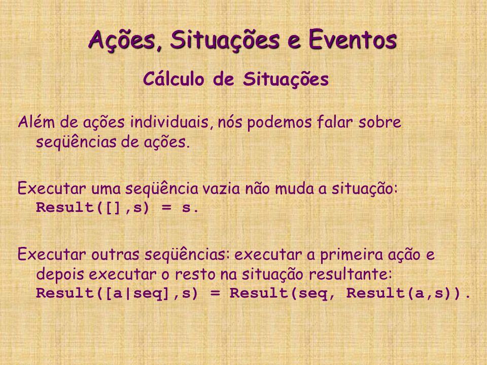 Ações, Situações e Eventos