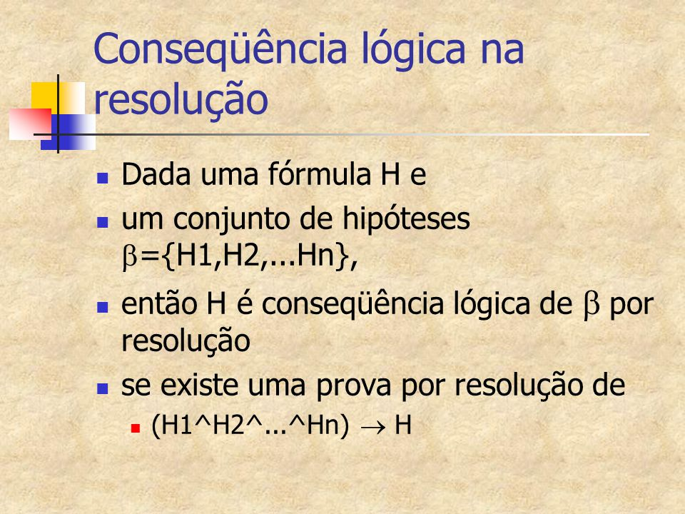 Conseqüência lógica na resolução