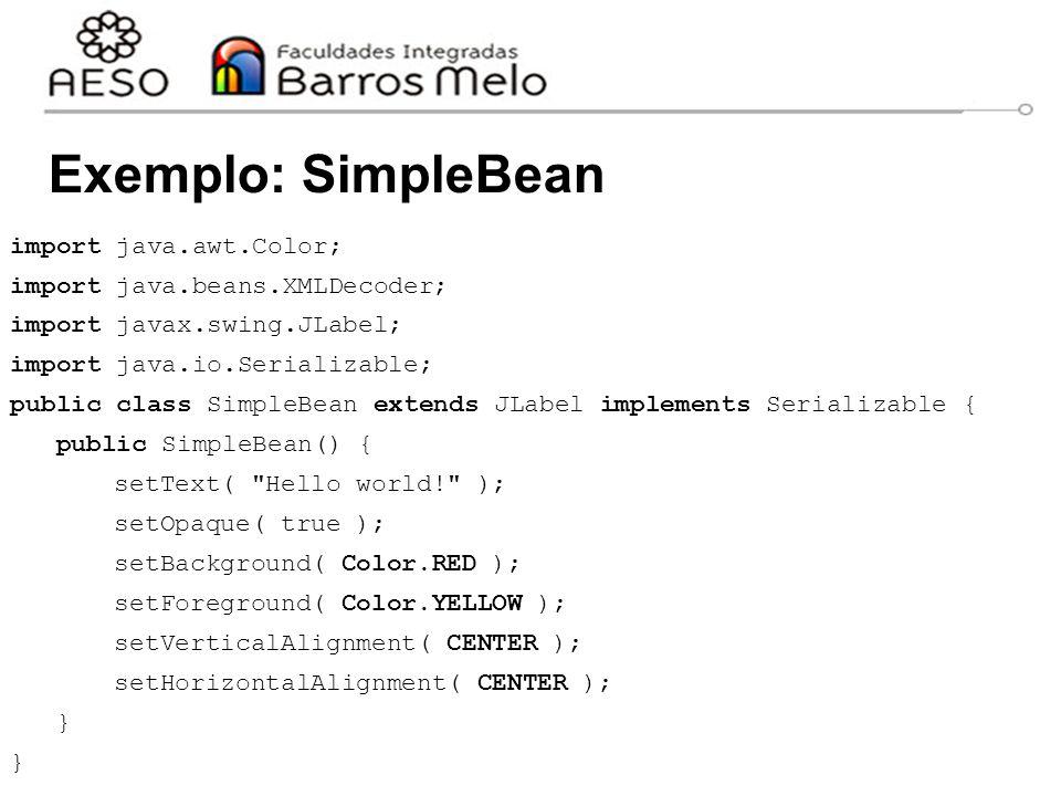 Exemplo: SimpleBean