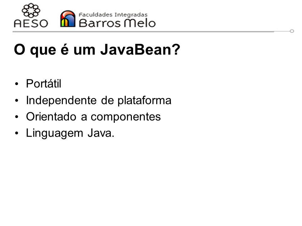O que é um JavaBean Portátil Independente de plataforma