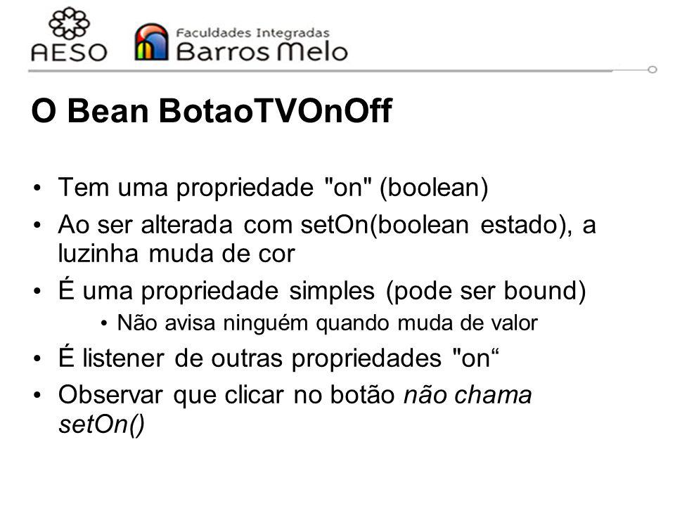 O Bean BotaoTVOnOff Tem uma propriedade on (boolean)