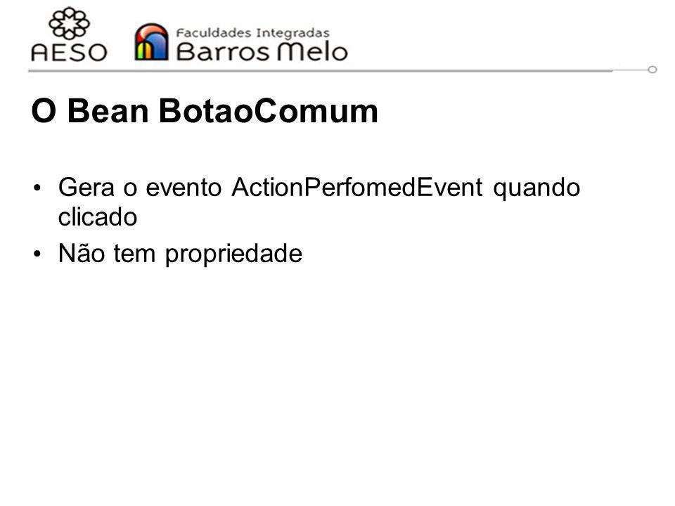 O Bean BotaoComum Gera o evento ActionPerfomedEvent quando clicado