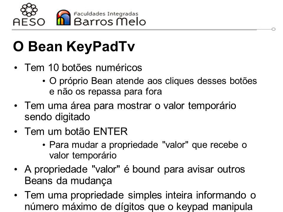 O Bean KeyPadTv Tem 10 botões numéricos